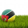 Football with flag of mozambique — Stock Photo