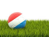 Football with flag of luxembourg — Foto de Stock