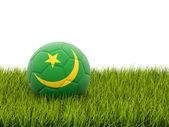 Futebol com bandeira da Mauritânia — Fotografia Stock