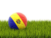 Football with flag of moldova — Foto de Stock