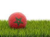 モロッコの国旗のフットボール — ストック写真