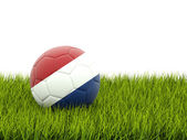 Football with flag of netherlands — Stock Photo