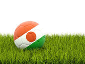 Football with flag of niger — Foto de Stock