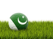 Football with flag of pakistan — Stock Photo