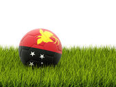 Football with flag of papua new guinea — Stock fotografie