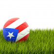 Football with flag of puerto rico — Stock Photo