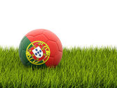 Football with flag of portugal — Stock Photo