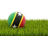 Football with flag of saint kitts and nevis — Stock Photo