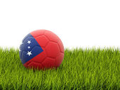 Football with flag of samoa — Stock Photo