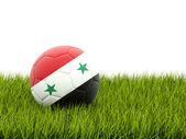 Football with flag of syria — Stock Photo