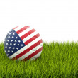 Football with flag of united states of america — Stock Photo