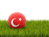 Football with flag of turkey — Stock Photo