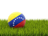 Football with flag of venezuela — Foto de Stock