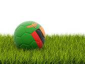 Football with flag of zambia — Foto de Stock
