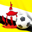 Flag of brunei with football in front of it — Stock Photo #37957367