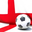 Flag of england with football in front of it — Stock Photo #37958667