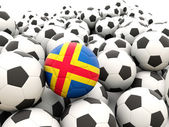 Football with flag of aland islands — Foto de Stock