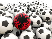 Football with flag of albania — Stock Photo