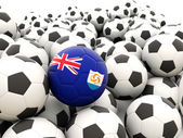 Football with flag of anguilla — Stock Photo