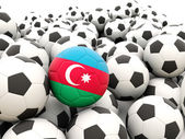 Fútbol con bandera de azerbaiyán — Foto de Stock