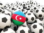 Futebol com bandeira do azerbaijão — Foto Stock