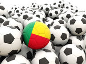 Football with flag of benin — Stock Photo