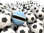 Fotboll med flagga botswana — Stockfoto