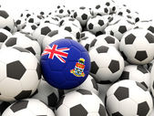 Football with flag of cayman islands — Foto de Stock
