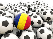 Football with flag of chad — Stock Photo