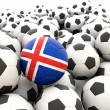 Football with flag of iceland — Stock Photo