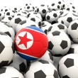 Football with flag of north korea — Stock Photo #44146199