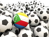 Football with flag of comoros — Foto de Stock