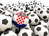 Football with flag of croatia — Stock Photo