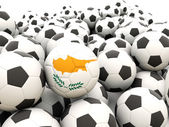 Football with flag of cyprus — Stock Photo