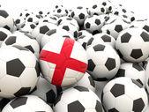 Football with flag of england — Stock Photo