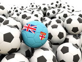 Football with flag of fiji — Stock Photo