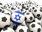 Football with flag of israel — Stock Photo