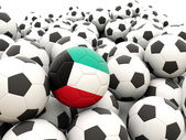 Football with flag of kuwait — Stock Photo