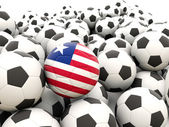 Football with flag of liberia — Stock Photo