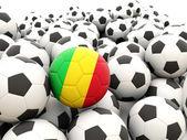 Football avec drapeau du mali — Photo