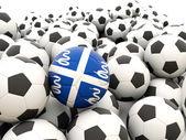 Fútbol con bandera de martinica — Foto de Stock