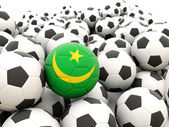 Football with flag of mauritania — Stock Photo