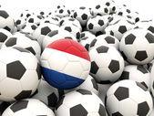 Fútbol con bandera de países bajos — Foto de Stock