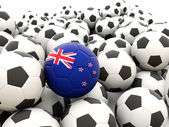 Football with flag of new zealand — Stock Photo