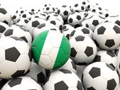 Football with flag of nigeria — Stock Photo
