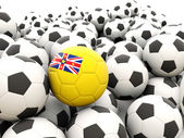 Football with flag of niue — Stock Photo