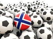 Football with flag of norway — Stock Photo