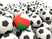 Football with flag of oman — Stock Photo