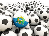 Football with flag of san marino — Stock Photo