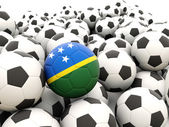 Football with flag of solomon islands — Foto de Stock